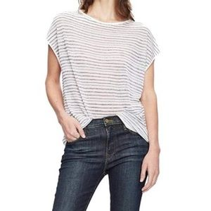 NWT Theory Varinka Striped Linen Knit Top